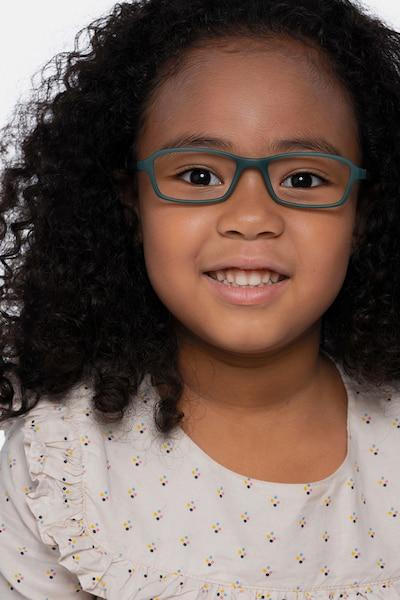 Nimbus Vert Plastique Montures de Lunettes pour Femmes d'EyeBuyDirect, Vue de Face