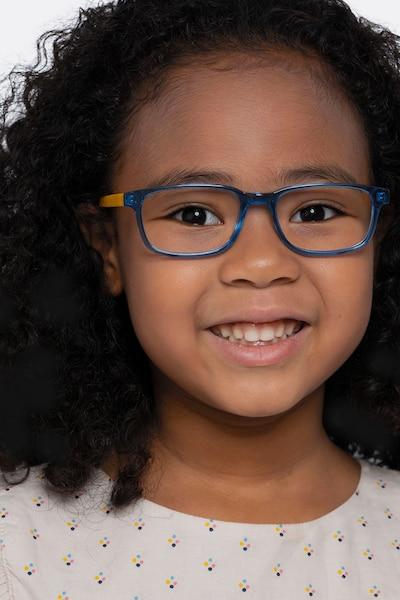 Totes Blue Clear Acétate Montures de Lunettes pour Femmes d'EyeBuyDirect, Vue de Face