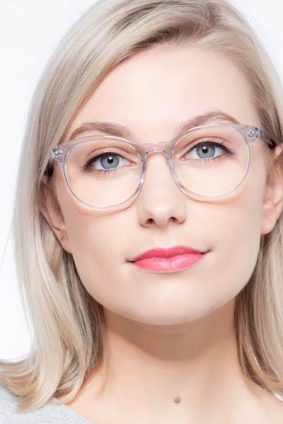 Primrose Gray Clear Acetate Eyeglass Frames for Women from EyeBuyDirect