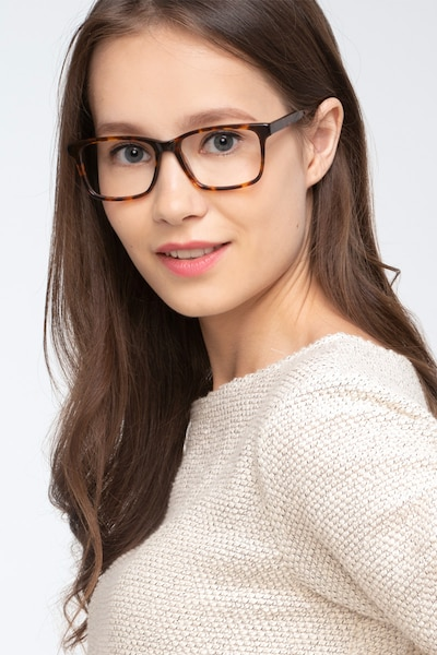 Prologue Tortoise Acetate Eyeglass Frames for Women from EyeBuyDirect, Front View