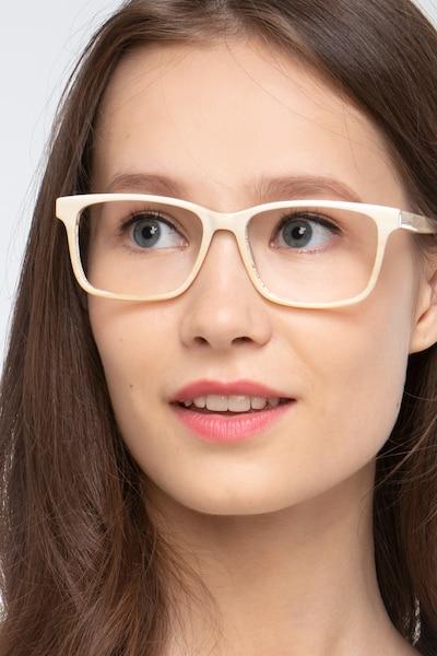 Prologue Cream Acétate Montures de Lunettes pour Femmes d'EyeBuyDirect