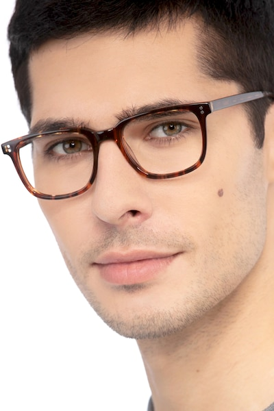 Kent Brown Striped Acetate Eyeglass Frames for Men from EyeBuyDirect