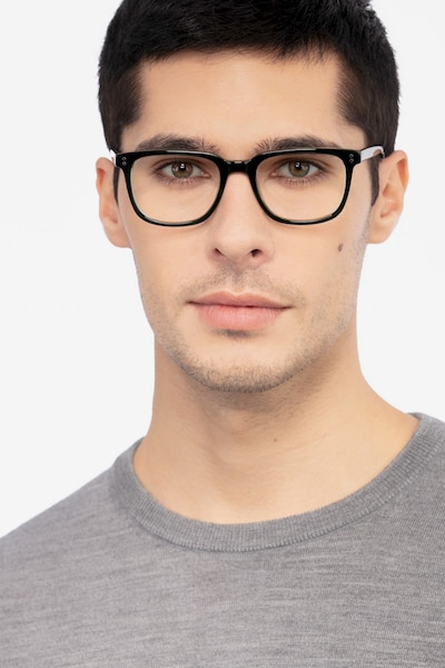 Kent Green Acetate Eyeglass Frames for Men from EyeBuyDirect, Front View