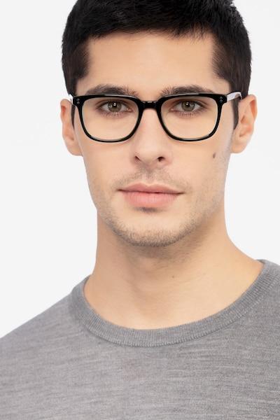 Kent Vert Acétate Montures de Lunettes pour Hommes d'EyeBuyDirect, Vue de Face