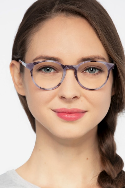 Lariat Striped Acetate Eyeglass Frames for Women from EyeBuyDirect