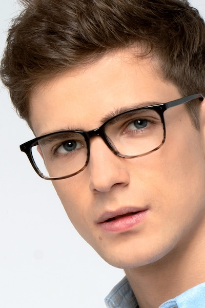 Botanist Gray Brown Acetate Eyeglass Frames for Men from EyeBuyDirect