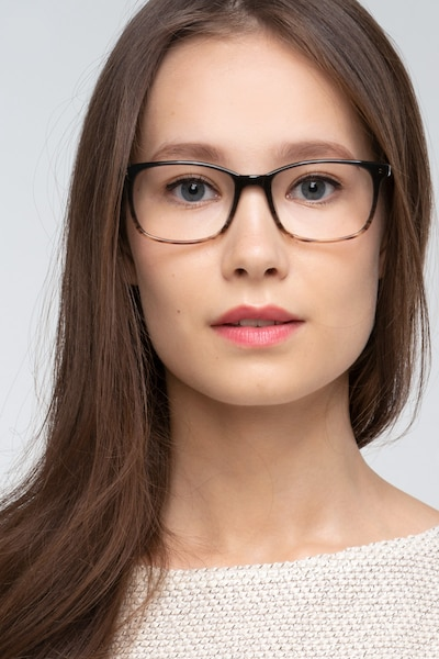 Botanist Gray Brown Acetate Eyeglass Frames for Women from EyeBuyDirect, Front View