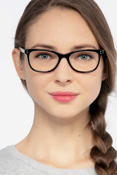 Prodigy Black Acetate Eyeglass Frames for Women from EyeBuyDirect