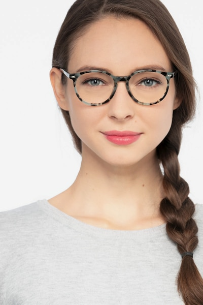 Blink Green Tortoise Acetate Eyeglass Frames for Women from EyeBuyDirect, Front View