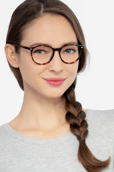 Blink Tortoise Acetate Eyeglass Frames for Women from EyeBuyDirect, Front View