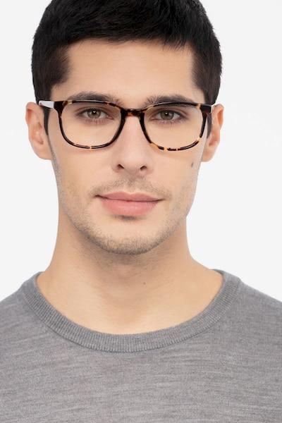 Emblem Écailles Acétate Montures de Lunettes pour Hommes d'EyeBuyDirect, Vue de Face