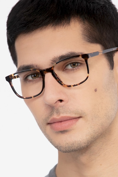 Emblem Tortoise Acetate Eyeglass Frames for Men from EyeBuyDirect