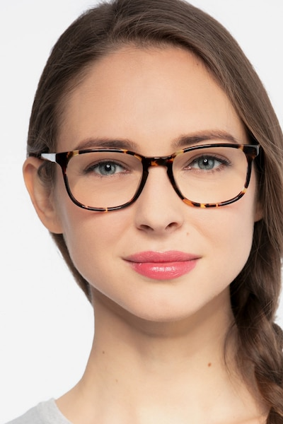 Emblem Tortoise Acetate Eyeglass Frames for Women from EyeBuyDirect