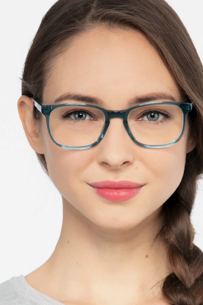 Emblem Blue Acetate Eyeglass Frames for Women from EyeBuyDirect