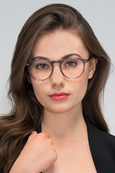 Planete Gray Clear  Acetate Eyeglass Frames for Women from EyeBuyDirect