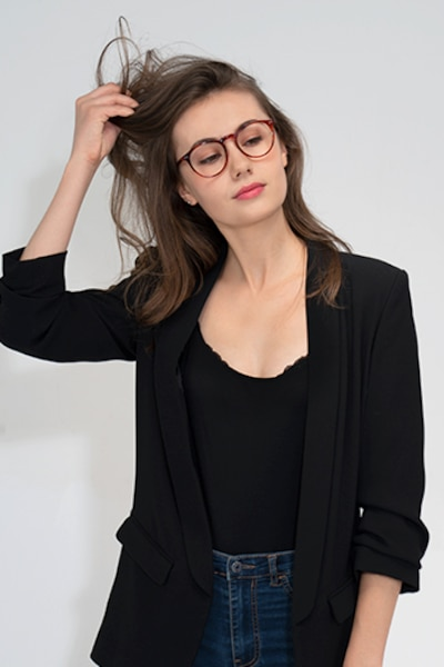 Planete Brown Tortoise Acetate Eyeglass Frames for Women from EyeBuyDirect, Front View