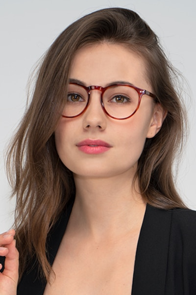 Planete Brown Tortoise Acetate Eyeglass Frames for Women from EyeBuyDirect