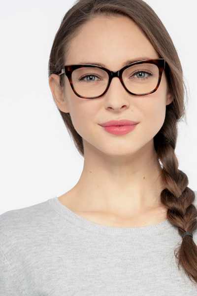 Cachet Tortoise Acetate Eyeglass Frames for Women from EyeBuyDirect, Front View