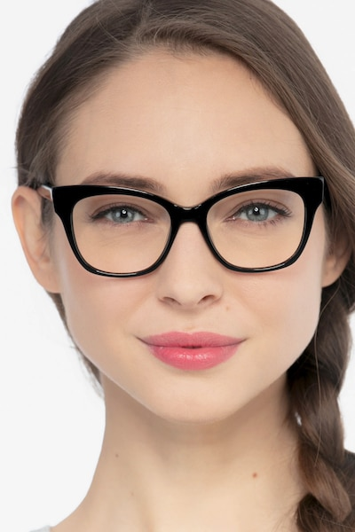 Cachet Black Acetate Eyeglass Frames for Women from EyeBuyDirect