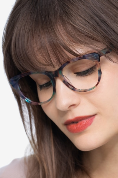 Mariposa Floral Acetate Eyeglass Frames for Women from EyeBuyDirect