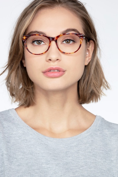 Mariposa Tortoise Acetate Eyeglass Frames for Women from EyeBuyDirect, Front View