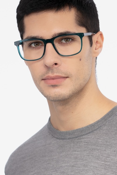 Ballast Green Acetate Eyeglass Frames for Men from EyeBuyDirect, Front View