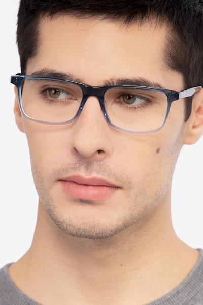 Mariner Clear Blue Acétate Montures de Lunettes pour Hommes d'EyeBuyDirect