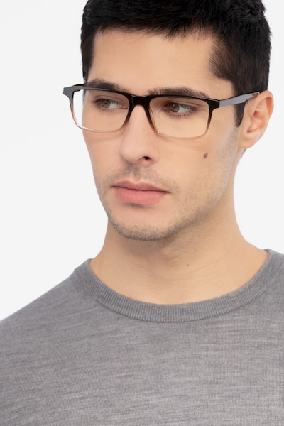 Mariner Clear Brown Acetate Eyeglass Frames for Men from EyeBuyDirect, Front View