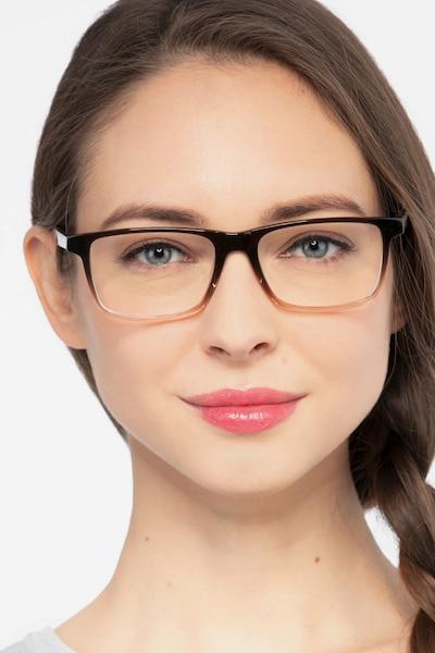 Mariner Clear Brown Acétate Montures de Lunettes pour Femmes d'EyeBuyDirect