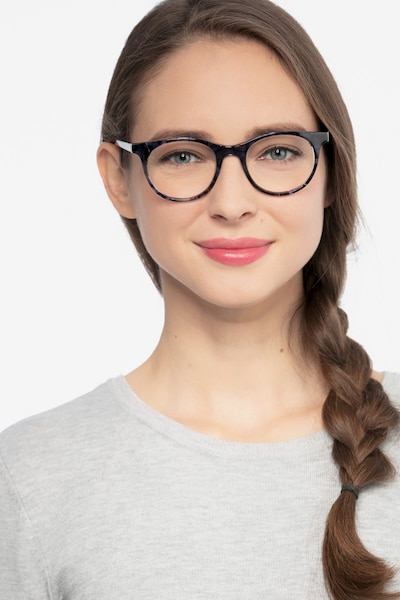 Delle Gray Floral Plastic Eyeglass Frames for Women from EyeBuyDirect