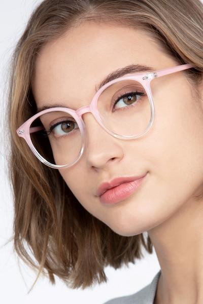 Noun Pink Plastic Eyeglass Frames for Women from EyeBuyDirect