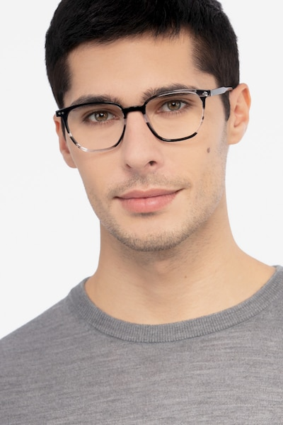 Regalia Gray Striped Acetate Eyeglass Frames for Men from EyeBuyDirect