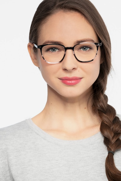Regalia Gray Striped Acetate Eyeglass Frames for Women from EyeBuyDirect