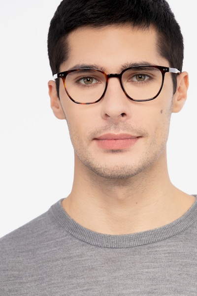 Regalia Tortoise Acetate Eyeglass Frames for Men from EyeBuyDirect, Front View