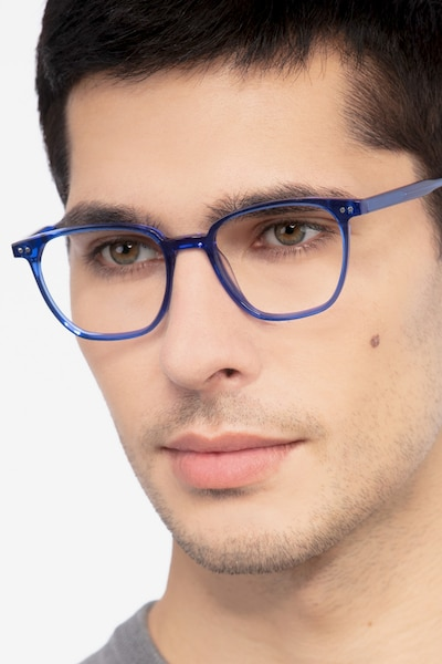 Regalia Blue Acetate Eyeglass Frames for Men from EyeBuyDirect