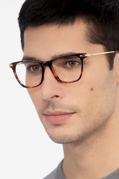 Sebastian Tortoise Acetate-metal Eyeglass Frames for Men from EyeBuyDirect