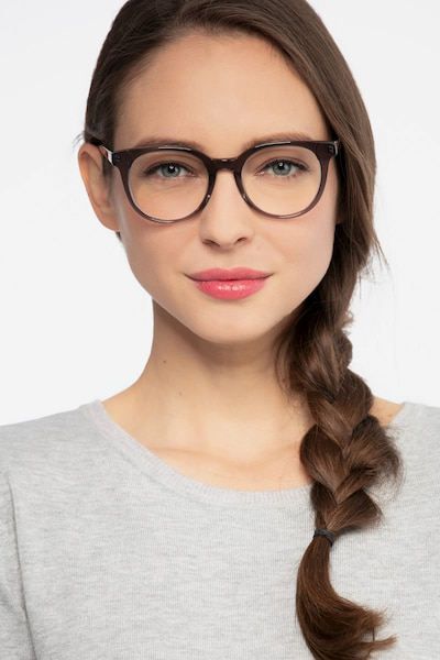 Rialto Gray Acetate Eyeglass Frames for Women from EyeBuyDirect, Front View