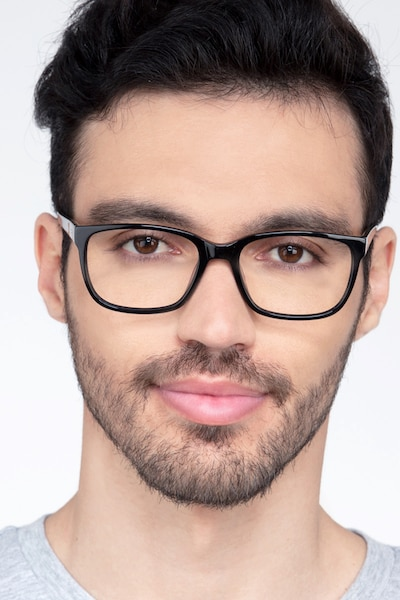 Demo Black Acetate Eyeglass Frames for Men from EyeBuyDirect