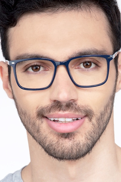 Chief Navy Acetate Eyeglass Frames for Men from EyeBuyDirect