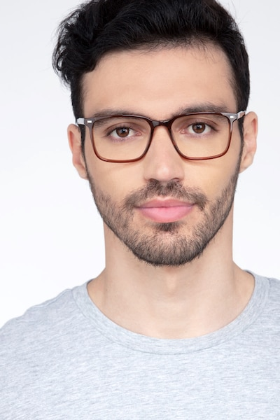 Chief Brown Acetate Eyeglass Frames for Men from EyeBuyDirect