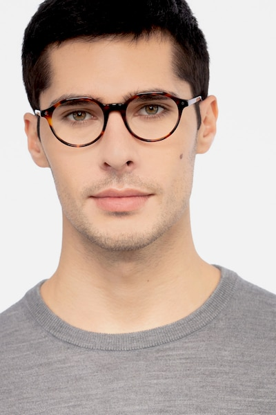Moby Tortoise Acetate Eyeglass Frames for Men from EyeBuyDirect, Front View