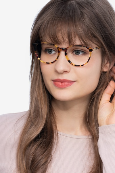 Messenger Tortoise Acetate Eyeglass Frames for Women from EyeBuyDirect, Front View