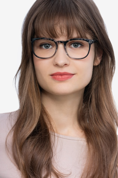 Keen Gray Floral Acetate Eyeglass Frames for Women from EyeBuyDirect
