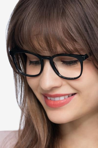 Keen Black Acetate Eyeglass Frames for Men from EyeBuyDirect