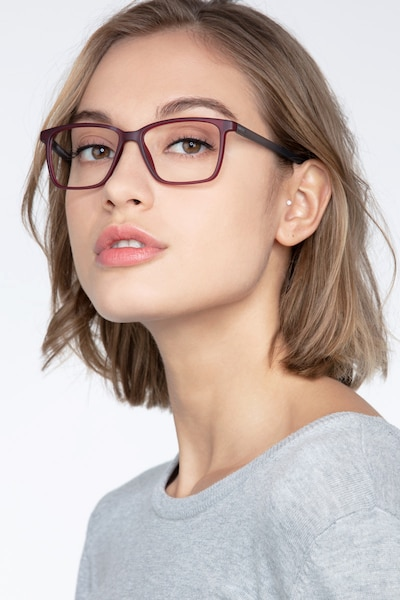 Alaska Red Plastic Eyeglass Frames for Women from EyeBuyDirect