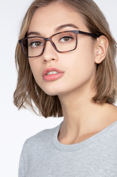 Alaska Tortoise Plastic Eyeglass Frames for Women from EyeBuyDirect