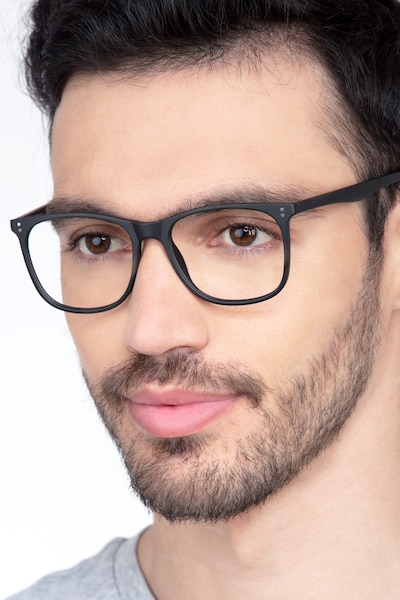 Mystery Black Plastic Eyeglass Frames for Men from EyeBuyDirect