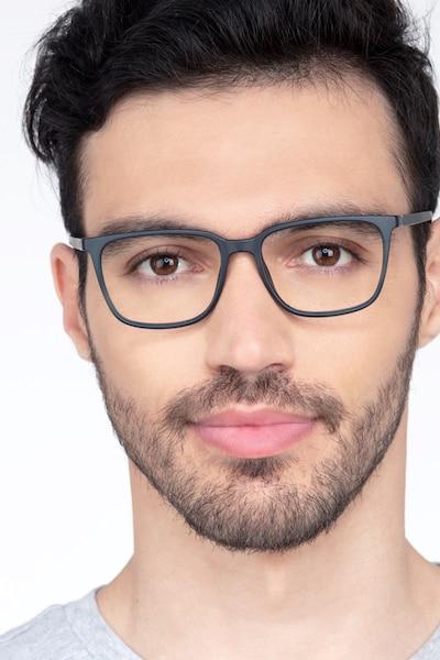 Stride Navy Plastic Eyeglass Frames for Men from EyeBuyDirect