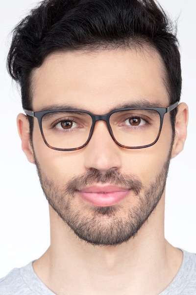 Stride Tortoise Plastic Eyeglass Frames for Men from EyeBuyDirect