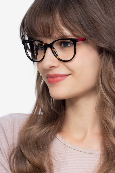 Sphinx Tortoise Acetate Eyeglass Frames for Women from EyeBuyDirect